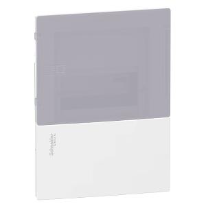Mini coffret PRAGMA - 1x4 mod. - portillon fumé - born. terre SCHNEIDER