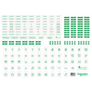 Symboles autocollants - 10 Feuilles - Resi9 SCHNEIDER
