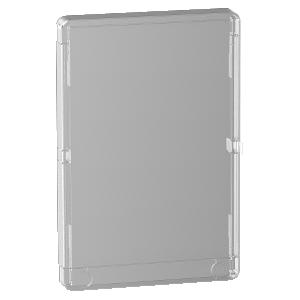 Porte Styl transparente pour coffret Resi9 3 rangées de 13 modules SCHNEIDER