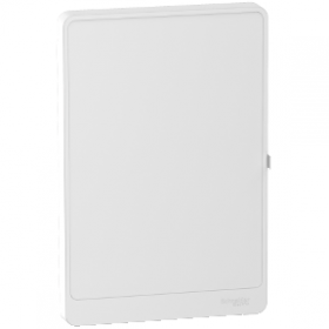 Porte Styl blanche pour coffret Resi9 18 modules - 4 rangées SCHNEIDER