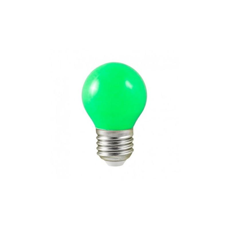 Ampoule LED E27 bulb G45 1W vert VISION EL