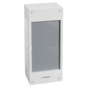 Pragma - Interface pour coffret saillie 2x24 modules - sans porte - blanc SCHNEIDER