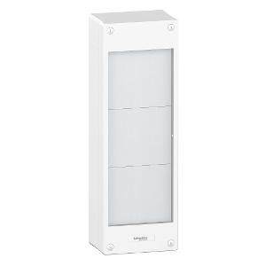 Pragma - Coffret d'interface 3 rangées pour coffret 24 modules, plastron blanc SCHNEIDER