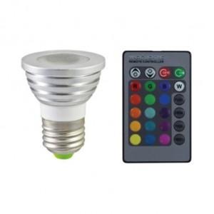 Ampoule LED E27 RGB + TELECOMMANDE VISION EL