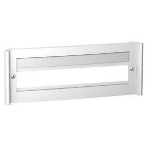 Plastron à fenêtre pour coffret Pragma 18 modules - blanc SCHNEIDER