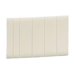 Obturateurs blancs 5 modules fractionnables Pragma - lot de 10 SCHNEIDER