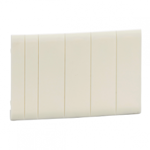 Pragma - Obturateurs blancs 5 modules fractionnables - lot de 10 SCHNEIDER