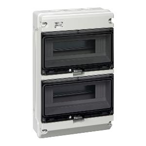 KAEDRA XT Coffret étanche 2 rangées 12 modules IP65 SCHNEIDER
