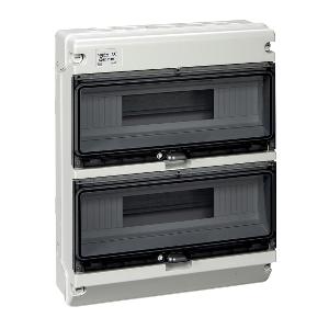 Coffret étanche KAEDRA XT 2 rangées 16 modules IP65 SCHNEIDER